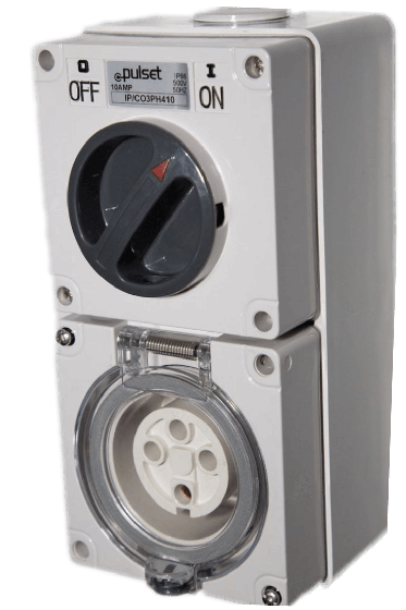 Three Phase 4 Round Pin Combo Switch & Socket
