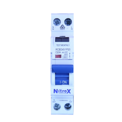 1 Pole 4.5KA RCBO (MCB/RCD) Electronic Combination