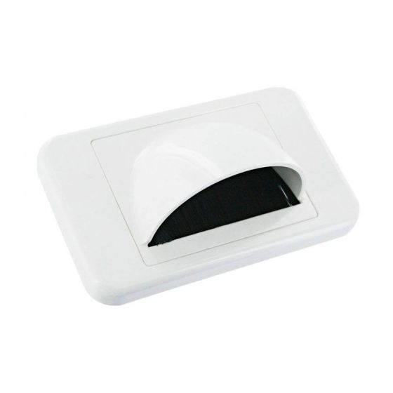 Wall Plate White Bullnose