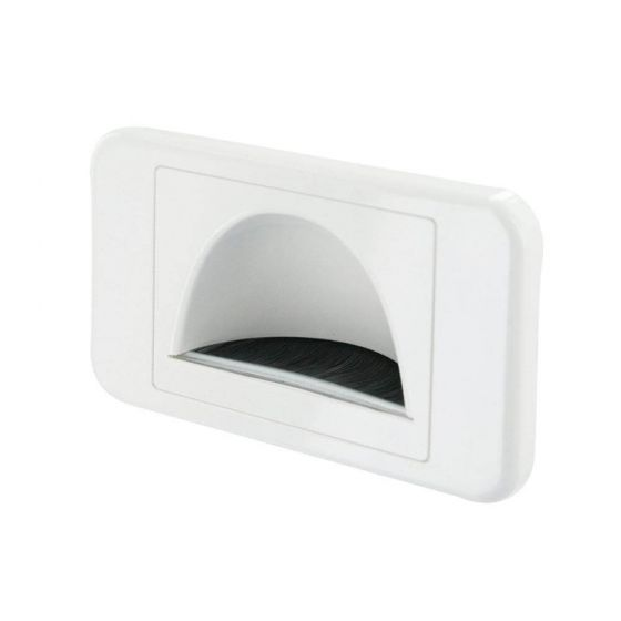 Wall Plate Recessed White Bullnose