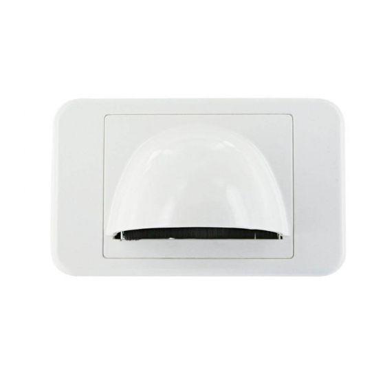 Wall Plate Slimline White Bullnose
