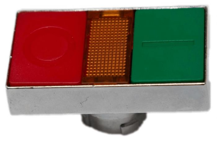 Push Button - Double Green/Red with Lamp