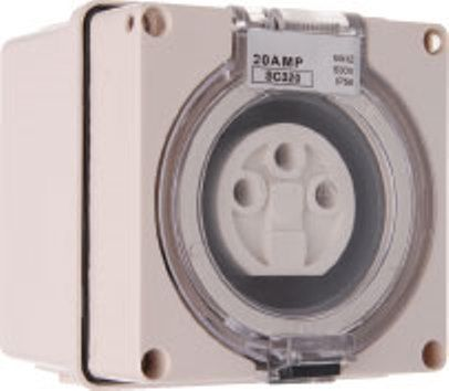 Single Phase 3 Round Pin Socket