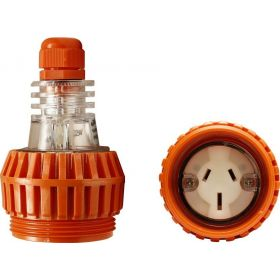 Single Phase 3 Flat Pin Extension Socket
